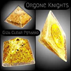 Clear Giza Orgonite Pyramid