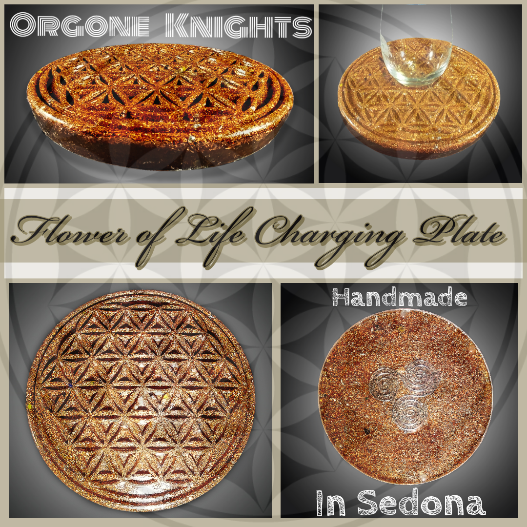 Copper Flower of Life Charging Plate