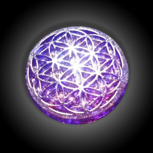 Flower of Life Purple Orgonite Disc