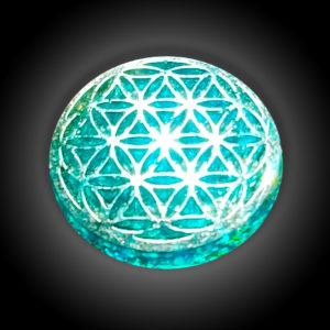 Green Flower of Life Pocket Orgone