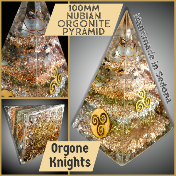Large Nubian Russian Orgone Pyramid
