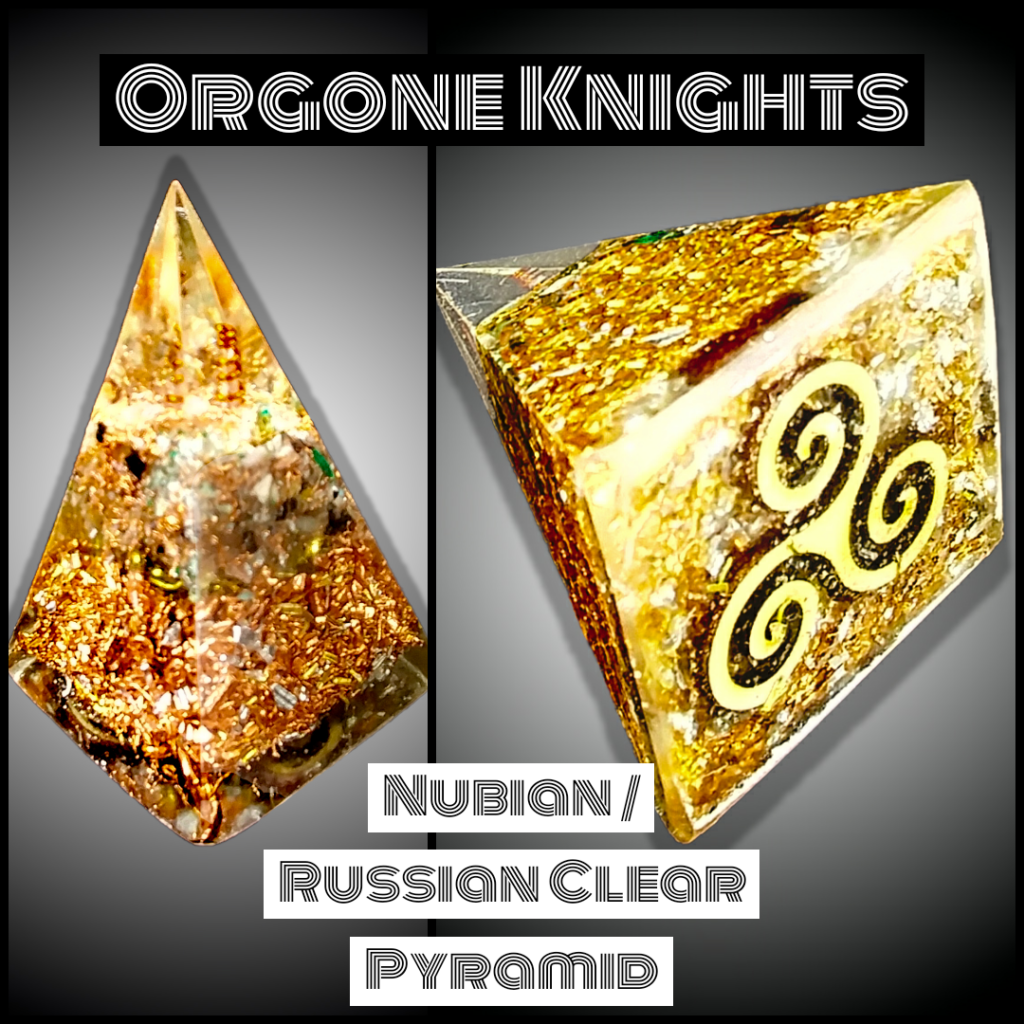 Nubian Russian Clear Orgonite Pyramid