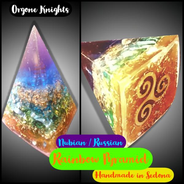 Nubian Rainbow Orgonite Pyramid