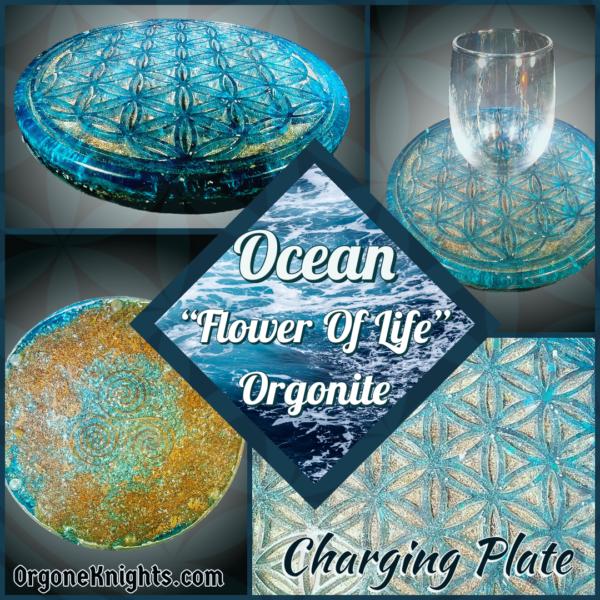 Ocean Flower of Life Charging Plate